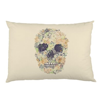 Dia Muertos Skull Flowers 2 Pillow Case