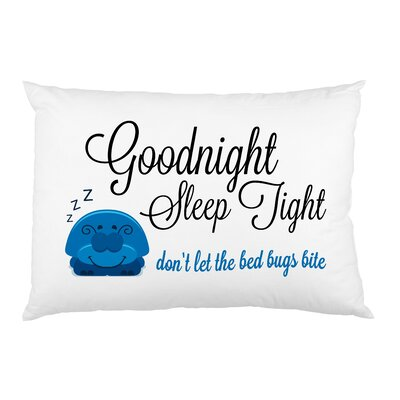 Goodnight Sleep Tight Bug Pillow Case