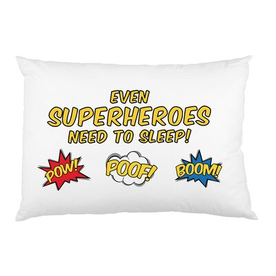 Superheroes Need Sleep Pillow Case