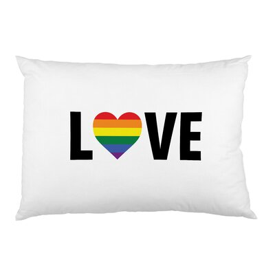 Love Wins Rainbow Heart Pillow Case