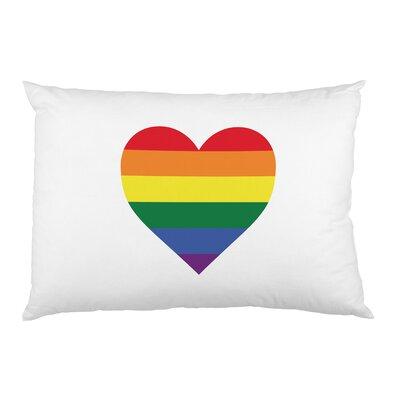 Rainbow Heart Pillow Case