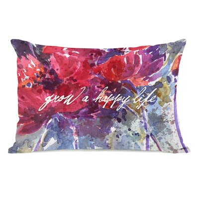 Grow a Happy Life Pillow Case