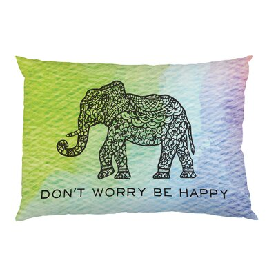 Dont Worry Elephant Pillow Case