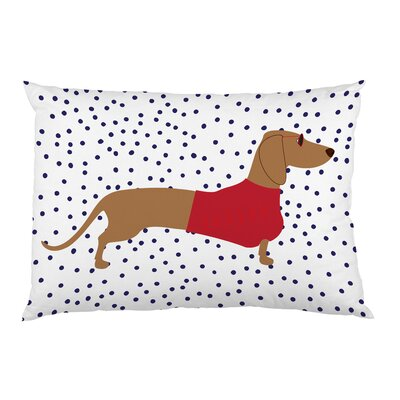 Dachshund Dots Pillow Case