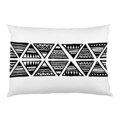 Tribal Triangles Fleece Standard Pillow Case