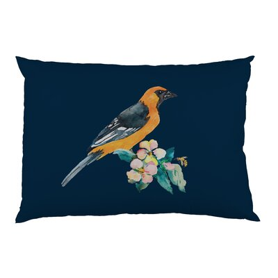 Yellow Bird Pattern Pillow Case