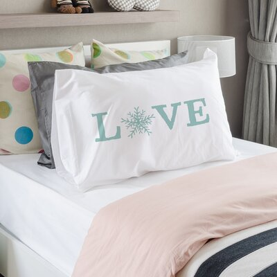 Love Snowflake Pillow Case