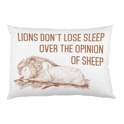 Lions Dont Lose Sleep  -  Brown Single Fleece Standard Pillow Case by OBC