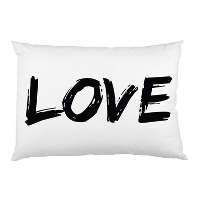 Love Paintbrush Pillow Case