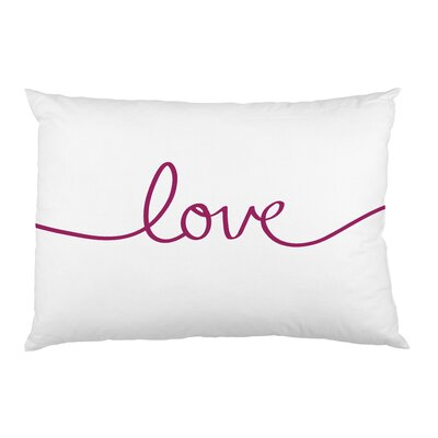 Love Purple Script Pillow Case