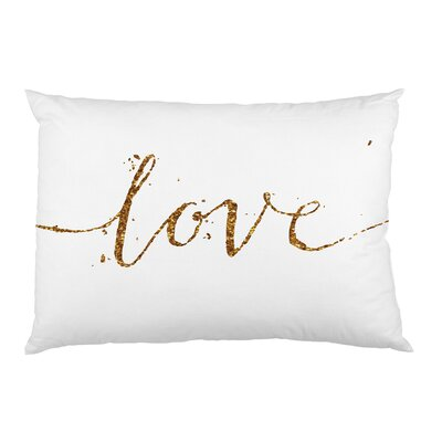 Love Sparkle Script Pillow Case