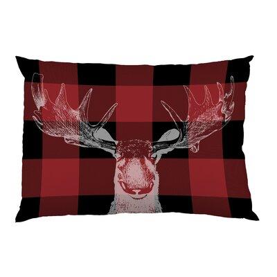 Buffalo Check Moose Pillow Case