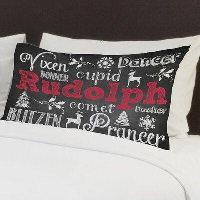 Reindeer Chalk Fleece Standard Pillow Case
