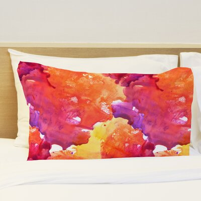 Neon Sunset Fleece Standard Pillow Case