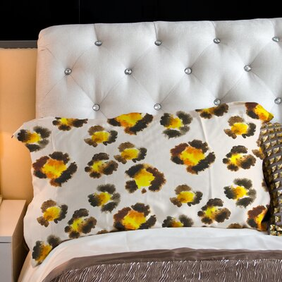 Leopard Spots Watercolor Fleece Standard Pillow Case