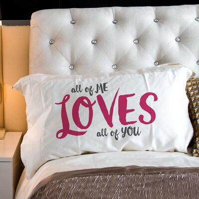 All of Me All of You Fleece Standard Pillow Case