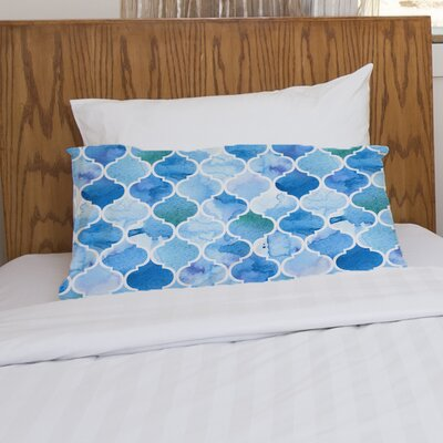 Ocean Moroccan Fleece Standard Pillow Case