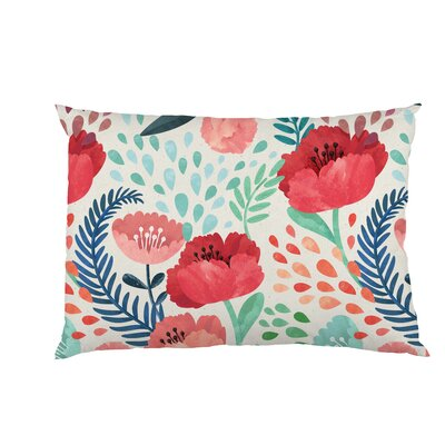 Central Park Florals Fleece Standard Pillow Case