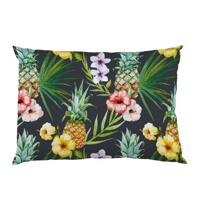 Hawaiian Pineapples Fleece Standard Pillow Case