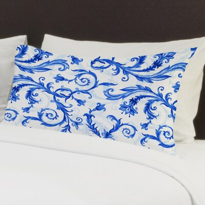 Royal Flower Swirls Pillow Case