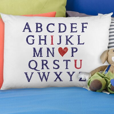 I Heart You Alphabet Pillow Case