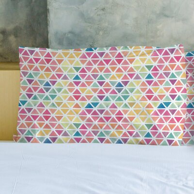 Watercolor Geometric Pillow Case