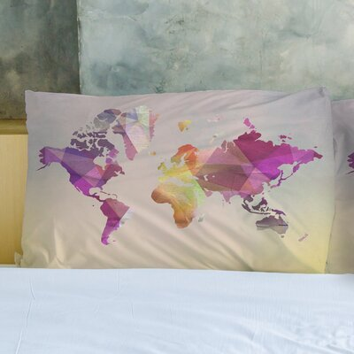 World in Abstract Pillow Case