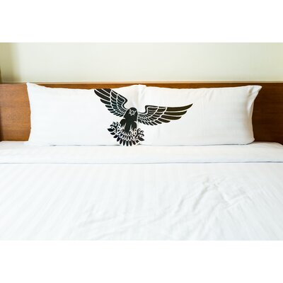 Better Together 2 Piece Gray Eagle Pillow Case Set