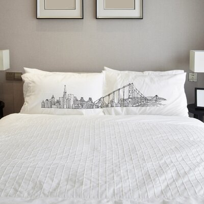 Better Together 2 Piece San Francisco Skyline Pillow Case Set