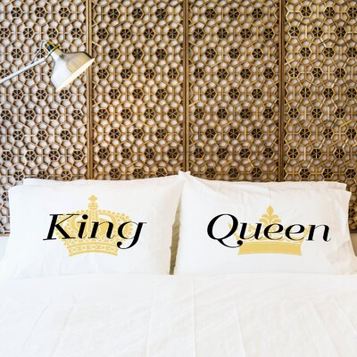 Better Together 2 Piece King and Queen Pillow Case Set