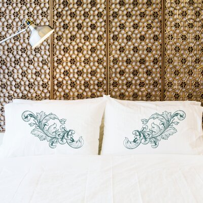 Better Together 2 Piece Baroque Detail Pillow Case Set
