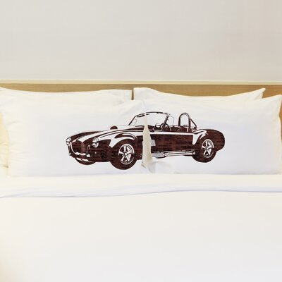 Better Together 2 Piece Hot Rod Fire Pillow Case Set