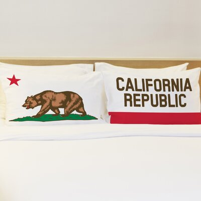 Better Together 2 Piece California Republic Pillow Case Set