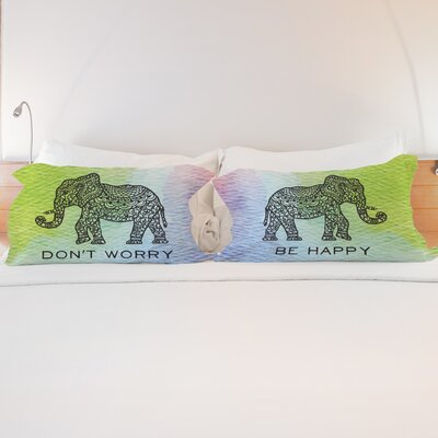 Better Together 2 Piece Dont Worry Elephant Pillow Case Set