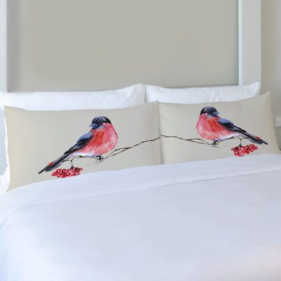 Better Together 2 Piece Bullfinch Pattern Pillow Case Set