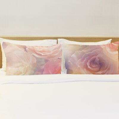 Better Together Rainbow Rose Garden Pillow Case