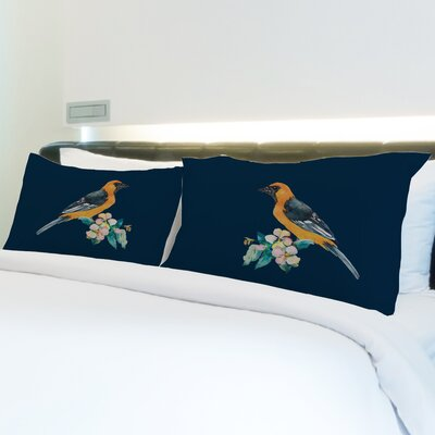 Better Together 2 Piece Yellow Bird Pattern Pillow Case Set