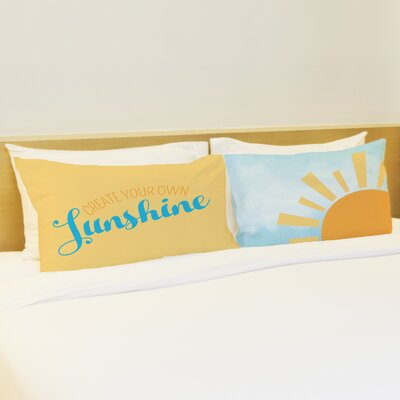 Better Together 2 Piece Create Your Own Sunshine Pillow Case Set
