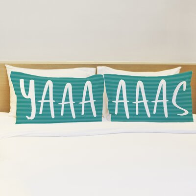 Better Together 2 Piece Yaaas Stripes Pillow Case Set