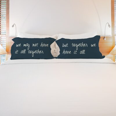 Better Together 2 Piece Together We Have It All Pillow Case Set 74352CSE