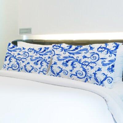 Better Together Royal Flower Swirls Pillow Case