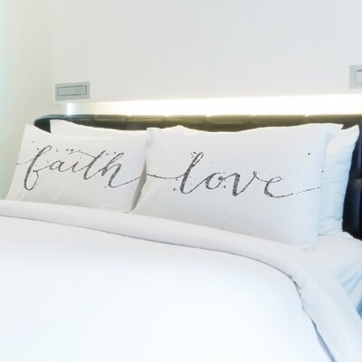 Better Together 2 Piece Faith Love Pillow Case Set