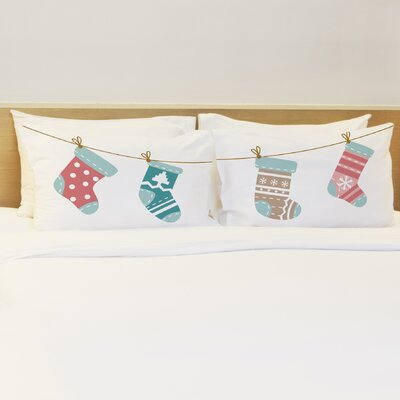Better Together 2 Piece Christmas Stockings Pillow Case Set