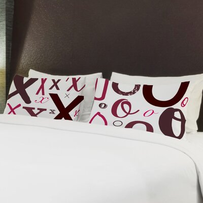 Better Together 2 Piece Xs Os Pillow Case Set