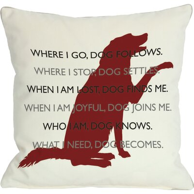 Doggy D�cor Dog.Codependent Throw Pillow Size: 18 H x 18 W