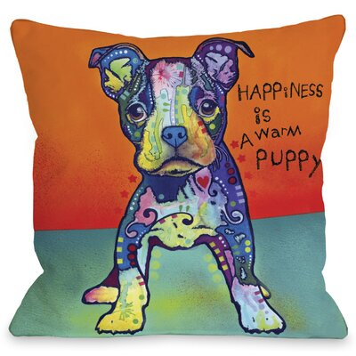 Doggy Decor on My Own Throw Pillow Size: 16 L x 16 W