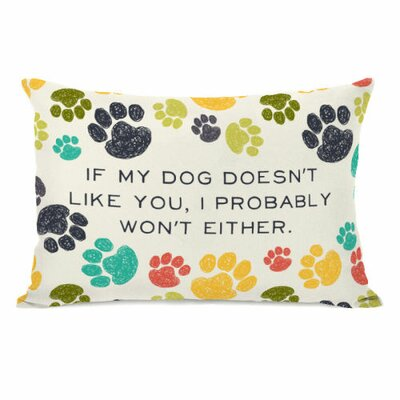 If My Dog Doesnt like You Fleece Lumbar Pillow