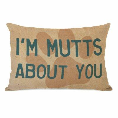 Im Mutts About You Fleece Lumbar Pillow
