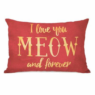 Meow and Forever Fleece Lumbar Pillow