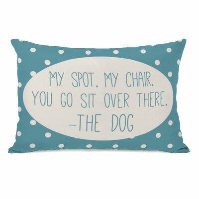 My Spot My Chair Fleece Lumbar Pillow